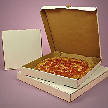 Cardboard White Pizza Box 10 Bakery Boxes 50 Each