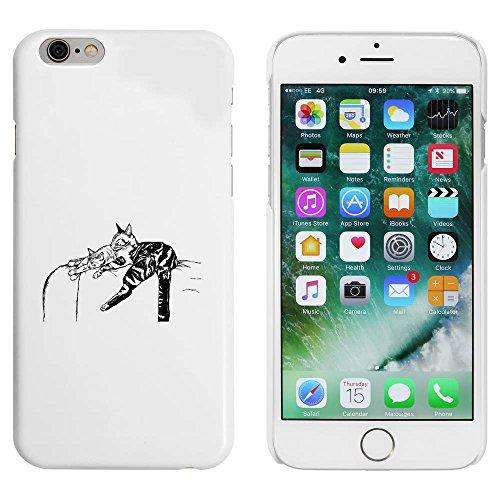 Blanc 'Chats Dormants' étui / housse pour iPhone 6 & 6s (MC00004142)