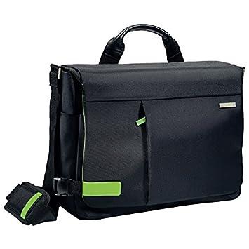 """c241b689a5 Leitz Sac Messenger pour ordinateur 15.6"""", 16 poches de rangement, Noir,  Polyester"""
