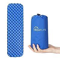 Inflatable Sleeping Mat, Treatlife Ultralight Camping Pad Compact Waterproof Moistureproof Roll Mattress for Hiking, Backpacking, Hammock, Tent