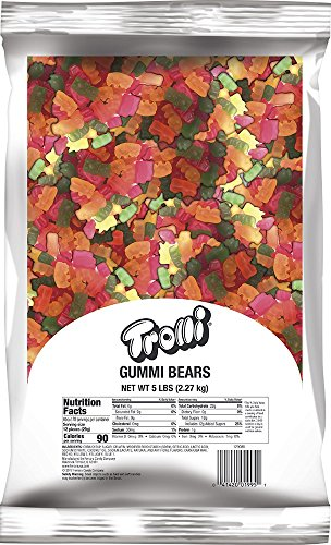 Trolli Gummi Bears (Trolli Gummy Bears Candy, 5 Pound Bulk Candy Bag)