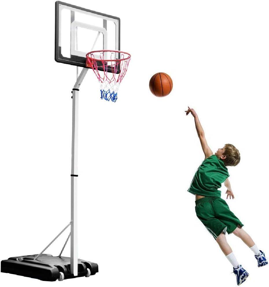 KIDS FREE STANDING BASKETBALL ADJUSTABLE STAND BACKBOARD HOOP NET TOY SET MEDIUM