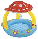 Intex Mushroom Inflatable Baby Pool, 40'' X 35'', for Ages 1-3