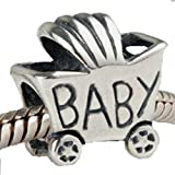 Mom's Baby Carriage Charm 925 Sterling Silver Bead Fits Pandora Charms