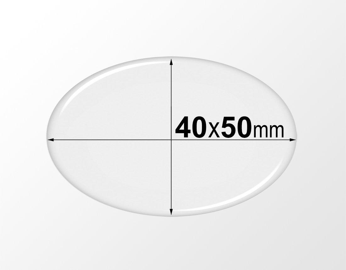 200 Pcs. 40x50mm Clear Oval Epoxy Stickers