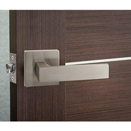 Probrico Square Passage Door Lever Set Keyless Interior Door Handles Lock Brushed Nickel Finish, 6 Pack by Probrico (Image #5)