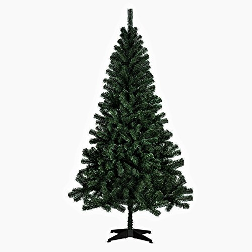 Artificial Christmas Tree. Fake 6 Foot Xmas Green Fir Pine Looks Stylish, Graceful & Natural With It's Dense, Lush, Foliage. Saves Space, Great For Indoor Holiday Season Party Decor. (Black Artificial Tree Christmas)