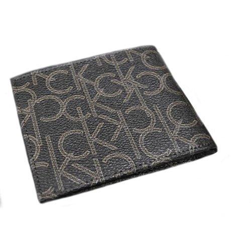 Calvin Klein 79463 Leather Billfold with Coin Pocket Wallet (Black)