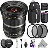 Canon EF-S 10-22mm f/3.5-4.5 USM Lens w/ Advanced Photo and Travel Bundle - Includes: Altura Photo Sling Backpack, UV-CPL-ND4, Neoprene Lens Pouch, Camera Cleaning Set