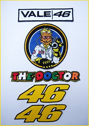 Set of 5 pieces VR46 Valentino Rossi The Doctor patch #2