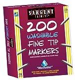 Sargent Art 200-Count Washable Fine Tip Marker Class Pack, Best Buy Assortment, 22-1526