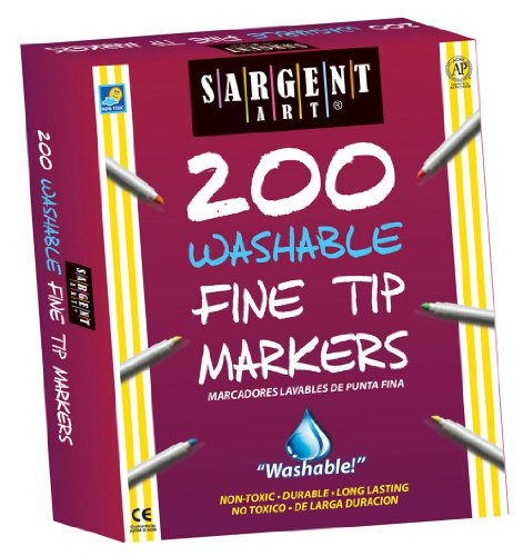 Sargent Art Fine Tip Washable Marker (Pack of 200)