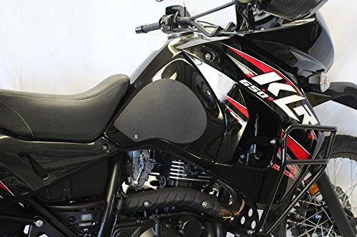 Techspec Tank Grips - Kawasaki KLR650 (1998-2014) - Techspec 62-2501-SS - Snake Skin - Black by Techspec-USA (Image #2)