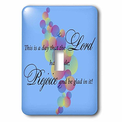 3dRose lsp_180536_1 Text Design Psalm Verse 24, Colorful Pas
