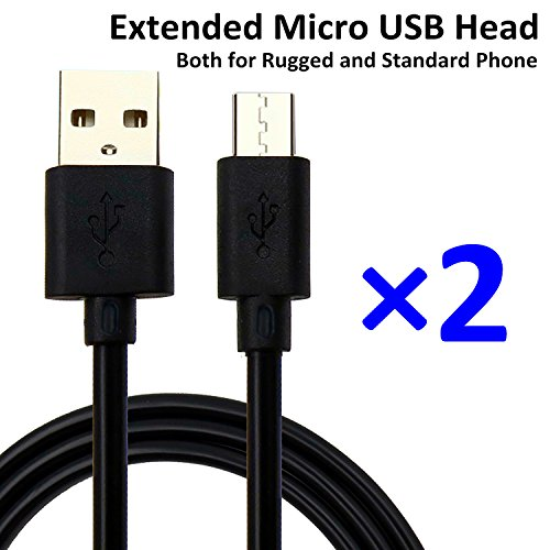 Price comparison product image NIUBEE 2A Extended Micro USB Head Universal Quick Charging Cable for Amazon Echo Dot Alexa/Kindle eReaders/Paperwhite/Fire HD 7 8/Asus/Samsung Galaxy Tablet(3.3ft+5ft)