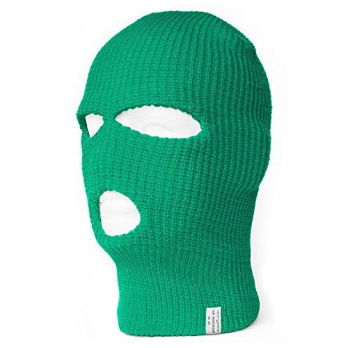 TopHeadwear's 3 Hole Face Ski Mask, Kelly Green