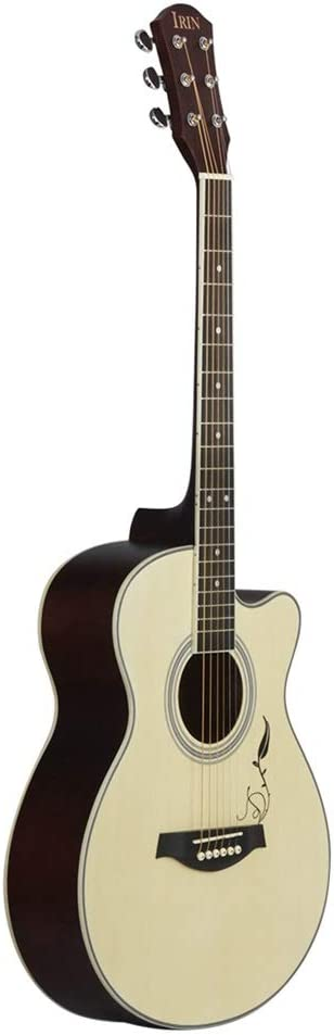 Guitarra clásica Portátil Guitarra Popular Tallada Recorte Spruce Gente Guitarra Principiante Apto para Principiantes y Adultos (Color : Natural, Size : 40 Inches)