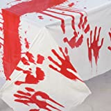 Bloody Hand Tablecover Party Accessory