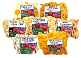 WISCONSIN CHEESE COMPANY'S, Wisconsin Classic Cheese Curd Sampler (5.25lbs) Mixed, Garlic Dill, Jalapeno, Yellow, Buffalo Wing, Pizza and Hickory Hollow (Smoked) Cheese Curds For Sale