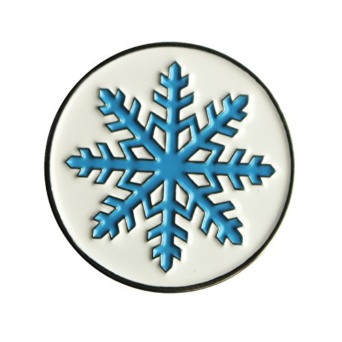 Snowflakes Ball (PINMEI Lot of 10 Snowflake Golf Ball Marker Dia 24.4MM, Special Unique, Soft Enamel Technique (Snowflake Ball Marker))