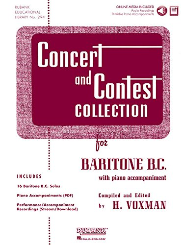 Concert and Contest Collection for Baritone B.C.: Solo Book with Online Media