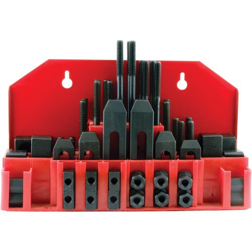 Grizzly 3400-3501 Clamping Kit for 1/2-Inch T-slots, 58-Piece Milling Clamps
