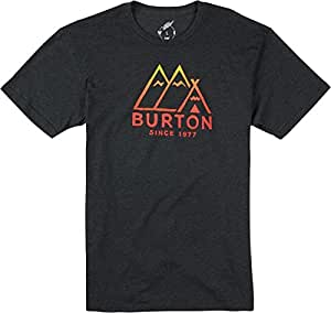 BURTON Men's Foothills Short Sleeve Recycled Tee, True Black Heather, Large
