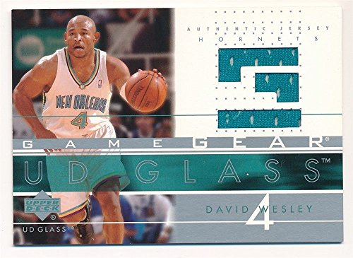 DAVID WESLEY 2003/04 UD GLASS GAME GEAR HORNETS RELIC GAME USED JERSEY SP