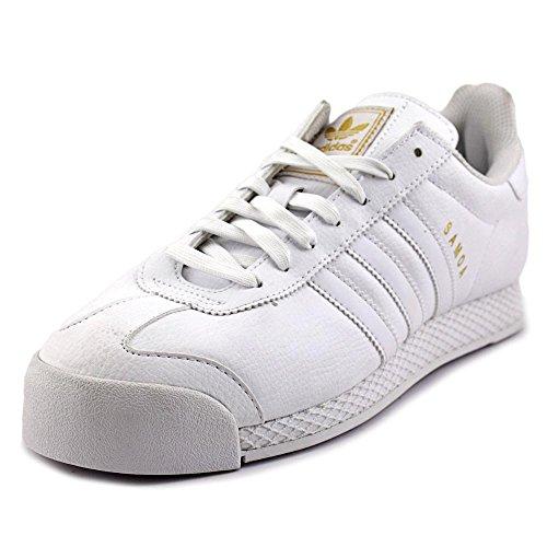 adidas Originals Men's Samoa Retro Fashion Sneaker, White/White/Metallic/Gold, 11.5 M US (Adidas Retro Shoes)