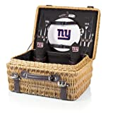 NFL New York Giants Champion Picnic Basket with Deluxe Service for Two, Black