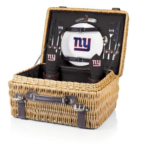 NFL New York Giants Champion Picnic Basket with Deluxe Service for Two, Black by PICNIC TIME