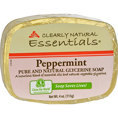 Clearly Natural Soap Bar Glycol Peppermint, 4 oz