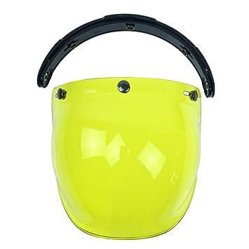 merymall Máscara de Visera para Casco (1 Unidad), Diseño de Burbujas, Lemon
