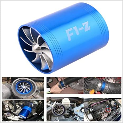 hot-sell F1-Z Doble Turbina turbo ventilador de aire Gas Fuel Saver Supercharger: Amazon.es: Coche y moto