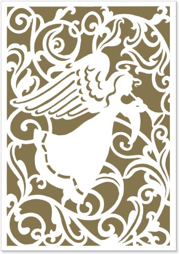 Angel Silhouette (Laser Cut) Small Boxed Holiday Cards (Christmas Cards, Holiday Cards, Greeting Cards)