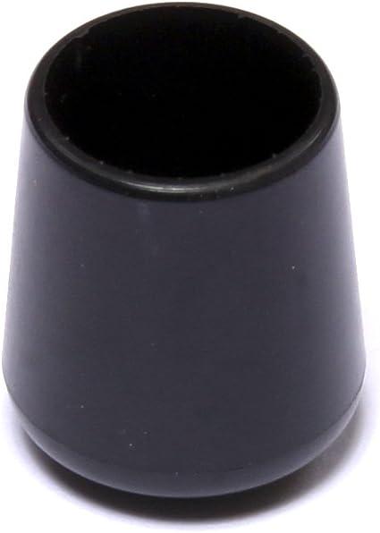 Negro Brinox B75265N Contera exterior redonda flexible Di/ámetro 20 mm Set de 50 Piezas