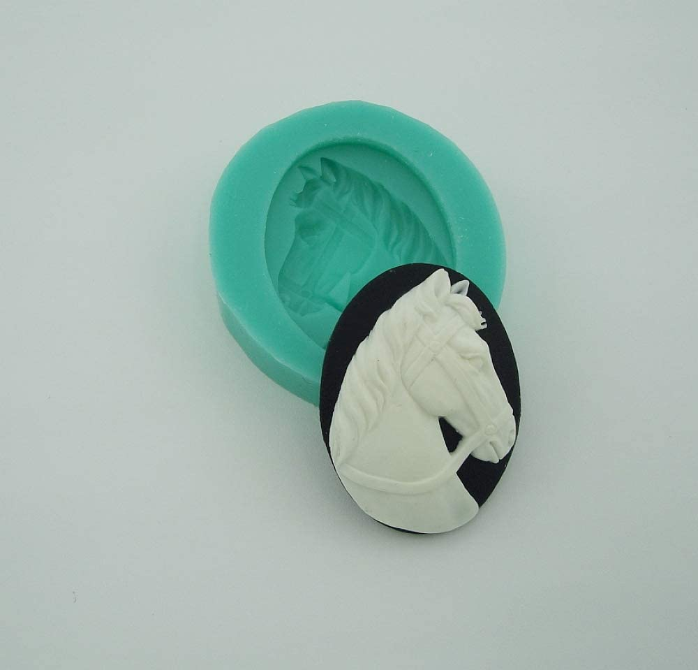Findings Stop Brand Silicone Mold Horse Head Cameo Flexible for Crafts Polymer Clay Resin Scrapbooking Jewelry