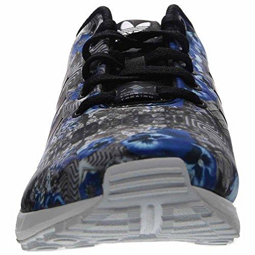 Adidas Zx Flux Print Casual Heren Schoenen Maat Zwart / Blauw-wit