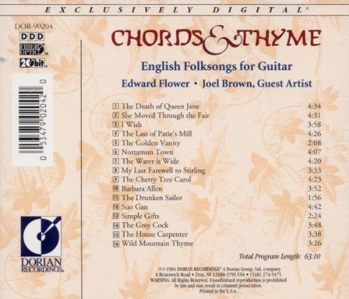 Edward Flower Joel Brown Chords Thyme Amazon Music