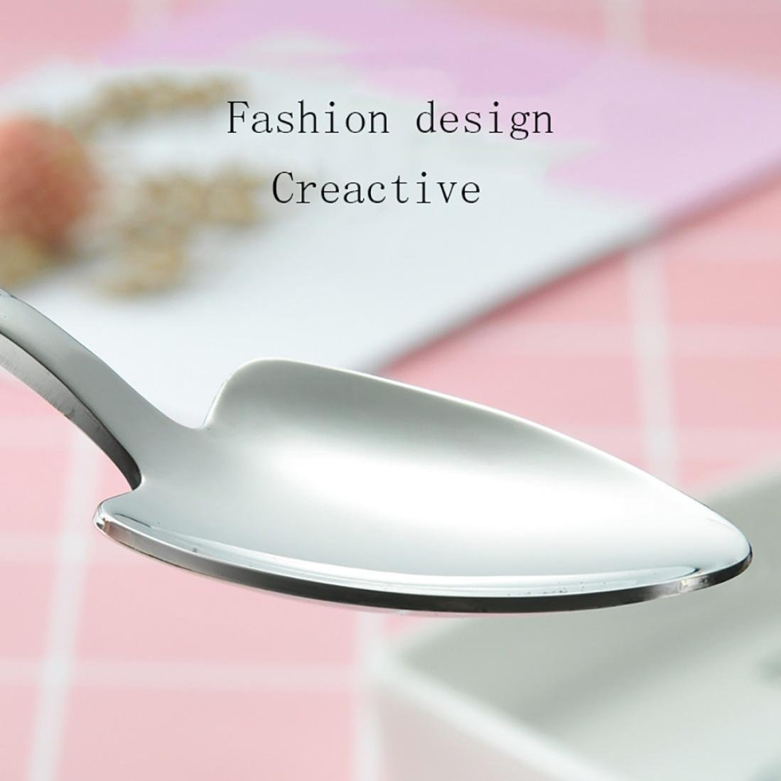 A TAOtTAO Shovel Wrench Shape Tableware Home Kitchen Stainless Steel Fork Spoon