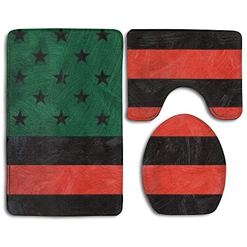 african american flag bathroom mats