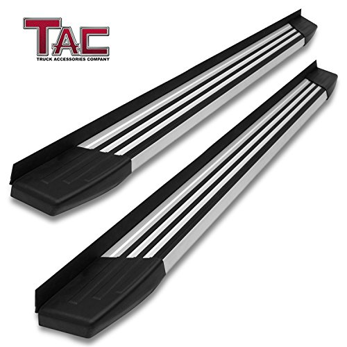 TAC Running Boards Fit 2013-2019 Nissan Pathfinder (Excl. Platinum Model) SUV 5.5 inches Aluminum Black Side Steps Nerf Bars Step Rails Truck Pickup Rock Panel Off Road Exterior Accessories (2 Pieces)