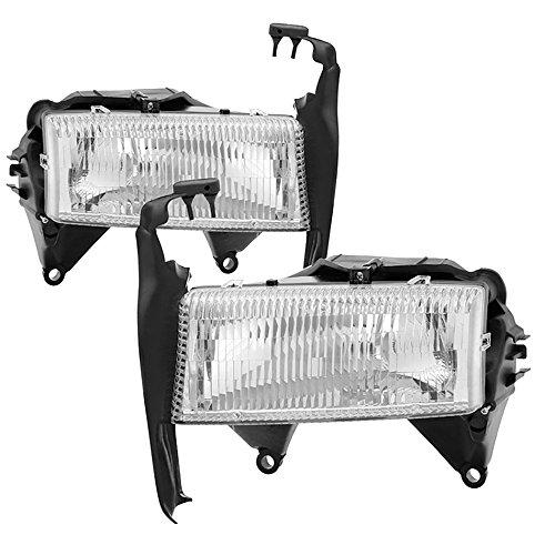 VIPMOTOZ Chrome Housing OE-Style Headlight Headlamp Assembly For 1997-2004 Dodge Dakota & Durango, Driver & Passenger Side