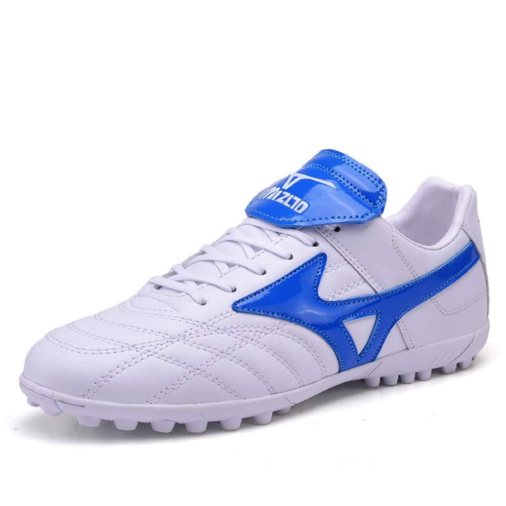 Ywqwdae Fußball-Schuhe der TF-Männer Rutschfeste Breathable dauerhafte Sport-Trainings-Turnschuhe (Farbe   Weiß, Größe   EU 39)