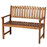 """Outsunny 47"""" Outdoor Acacia Wood Bench Portable Garden Park Lounge Seat All Weather"""