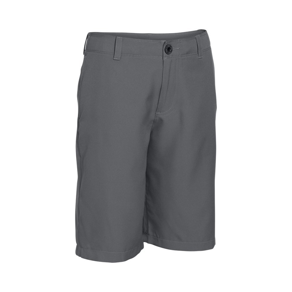 Under Armour Boys' Medal Play Golf Shorts, Graphite (040)/Black, Youth X-Large by Under Armour