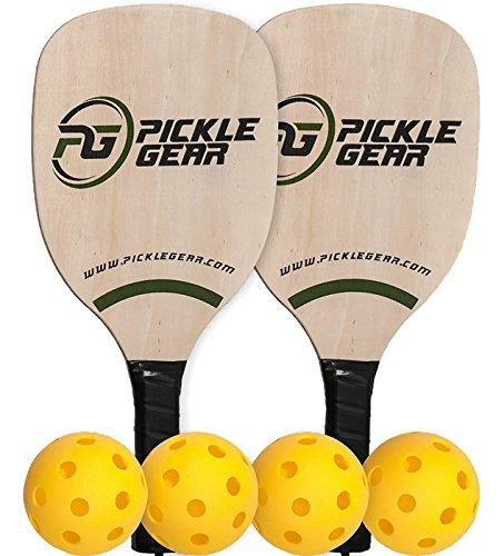 Pickle Gear Wood Pickleball Paddle Bundle by Picklegear