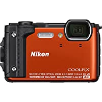 Nikon COOLPIX W300 16MP 4k Ultra HD Waterproof Digital Camera (Orange) - (Certified Refurbished) from Nikon