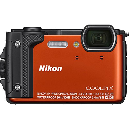 Nikon COOLPIX W300 16MP 4k Ultra HD Waterproof Digital Camera (Orange) - (Renewed)