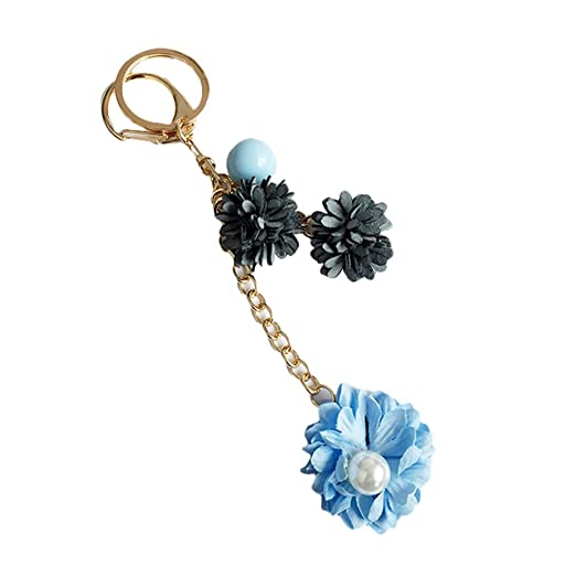 Da.Wa 1X Azul Colgante de Flores Creativo el Llavero ...